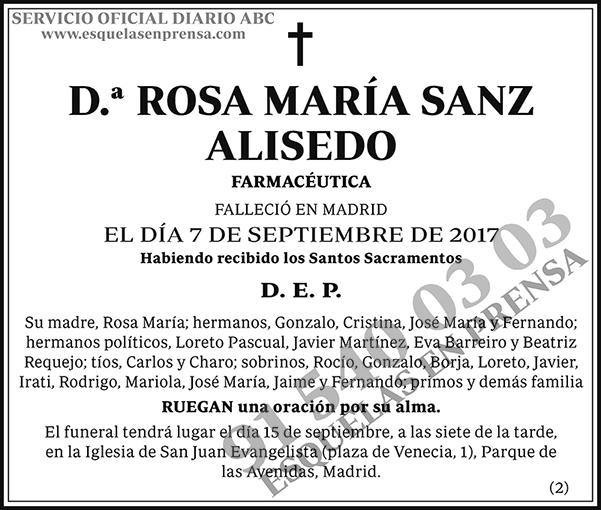 Rosa María Sanz Alisedo